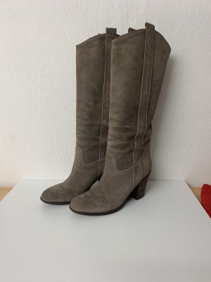 Massimo Dutti Heel Boots grey-grey brown