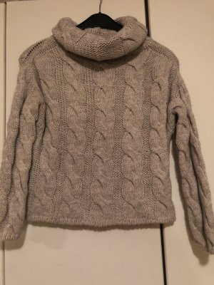 0039 Italy Pull-over à col roulé gris clair