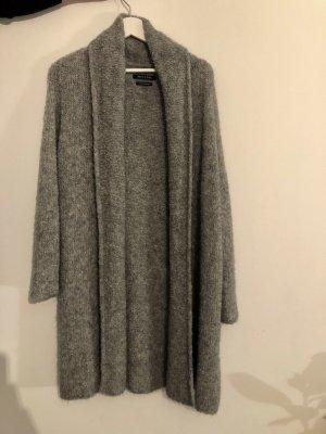 grauer Strickcardigan/Strickmantel aus Wolle