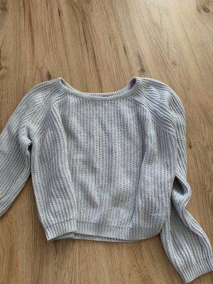 Tally Weijl Pull tricoté gris clair-bleu pâle