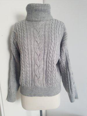 Oysho Pullover a maglia grossa grigio chiaro