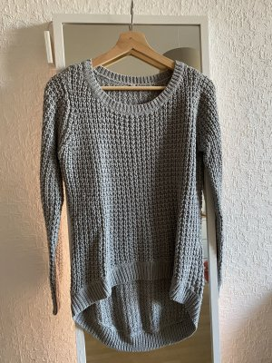 keine Marke Pullover a maglia grossa grigio