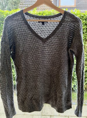 American Eagle Outfitters Pull col en V gris