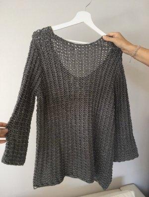 Zara Pullover a maglia grossa grigio scuro