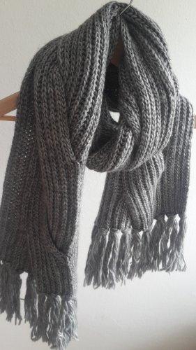 Mexx Bufanda de punto gris antracita-gris oscuro