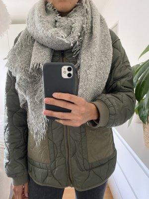 Zara Gebreide sjaal lichtgrijs-grijs