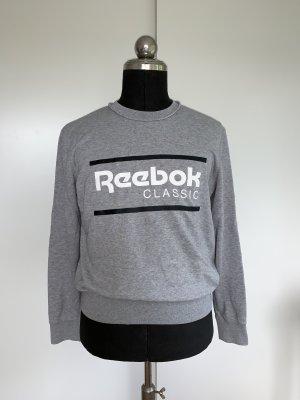 Reebok Jersey de cuello redondo gris claro