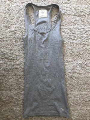Abercrombie & Fitch Basic topje grijs-lichtgrijs Katoen