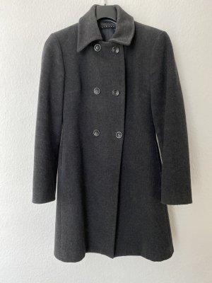Grauer Wintermantel von Sisley Größe 36