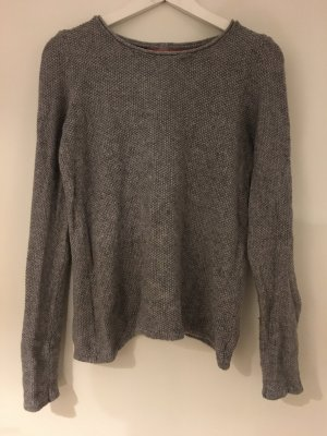 Promod Pull tricoté gris viscose