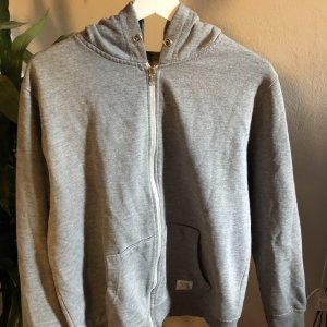 grauer zip up hoodie