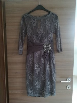 Apart  glamour Lace Dress grey-silver-colored mixture fibre