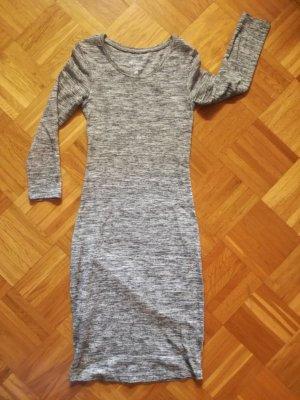 Graues Basic-Kleid