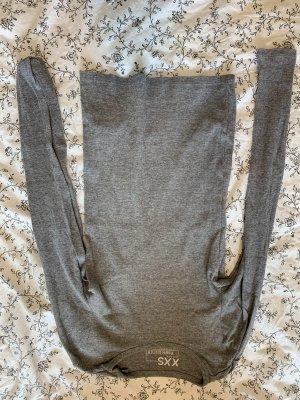 Cropped shirt donkergrijs