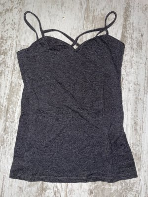 graues Basic Top in Gr. XS