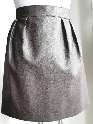 Graues Bundfaltenrock mit Seitentaschen