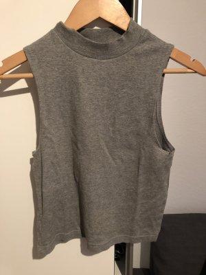 Topshop Camisa tejida gris-gris claro