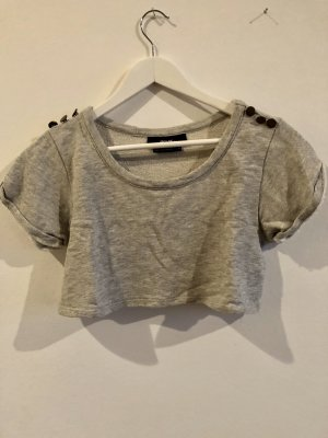 Nasty Gal Cropped shirt grijs-goud