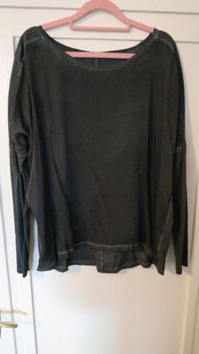 Drycorn Blusa in seta grigio scuro-antracite