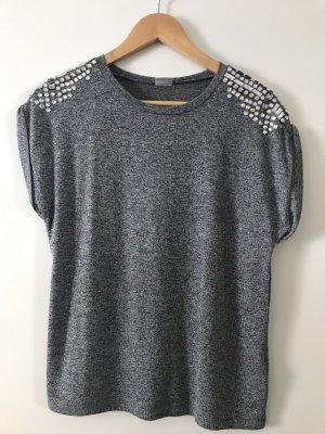Gina Tricot T-shirt srebrny-szary Wiskoza