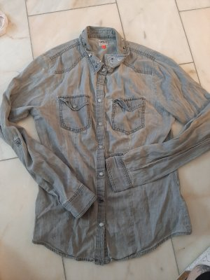 Only Denim Shirt light grey-grey