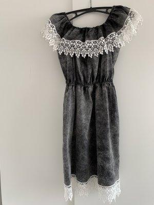 Jeansowa sukienka Wielokolorowy