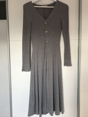 Mango casual Knitted Dress silver-colored