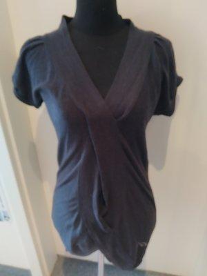 graues Kleid mit Schlitz vorne - Größe M