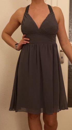 Vero Moda Szyfonowa sukienka ciemnoszary