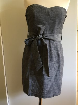 Forever 21 Bandeau Dress silver-colored-grey