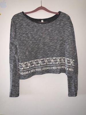Adidas NEO Koszulka z nadrukiem szary-biały