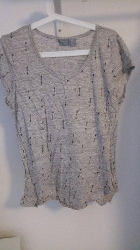 Graues Leinen T-Shirt von Kenar