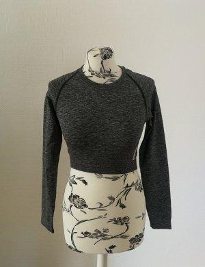 GYMSHARK Camisa recortada gris-gris oscuro