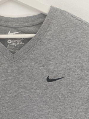 graues Nike T-Shirt mit V-Ausschnitt