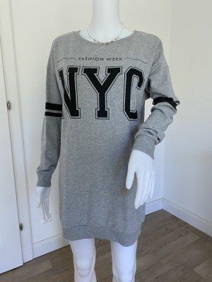 graues, oversized Sweatshirt
