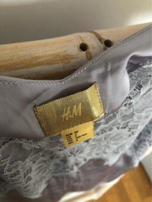 H&M Top di merletto grigio