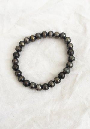 Graues schimmerndes Perlen-Armband