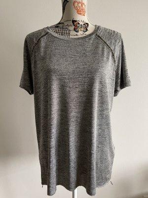 Bershka T-shirt ciemnoszary-szary