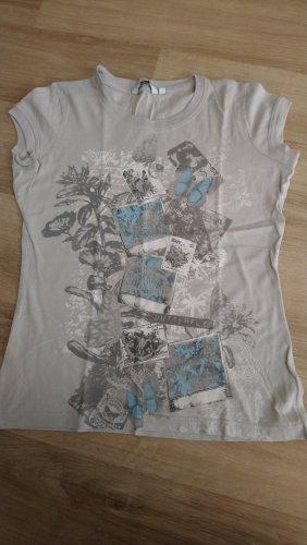 Graues Shirt mit Printdruck