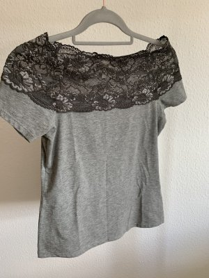 H&M Carmen Shirt silver-colored-grey