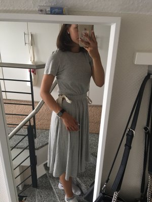 H&M Midi Dress light grey-cream
