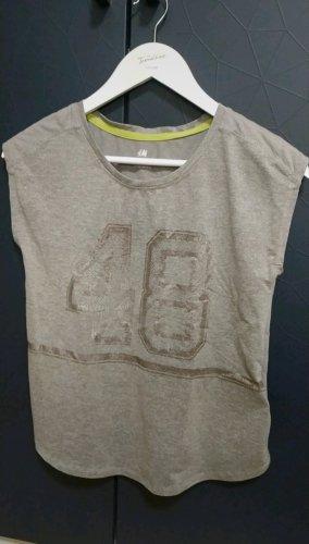 H&M Sportshirt zilver-grijs