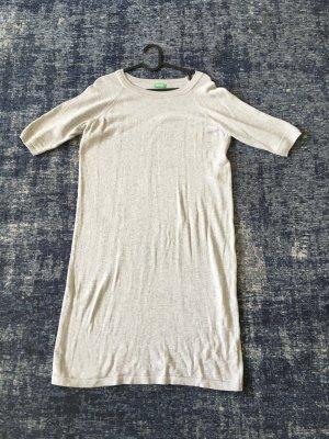 Benetton Abito di maglia argento Cotone
