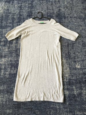 Benetton Vestido tejido color plata Algodón