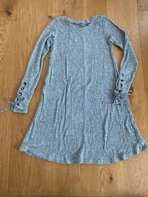 American Eagle Outfitters Gebreide jurk zilver Gemengd weefsel