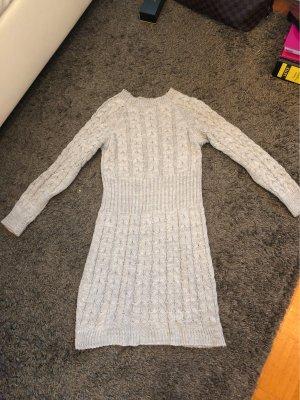 0039 Italy Gebreide jurk lichtgrijs