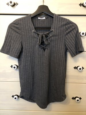 Only Ribbed Shirt anthracite-dark grey