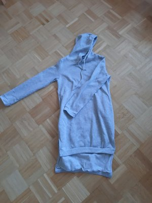 Hooded Sweater silver-colored mixture fibre