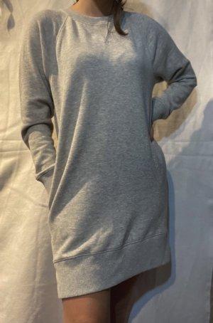 Graues Sweatkleid mit Taschen
