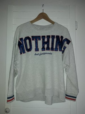 graues sweatshirt mit aufnäher, gr. 34